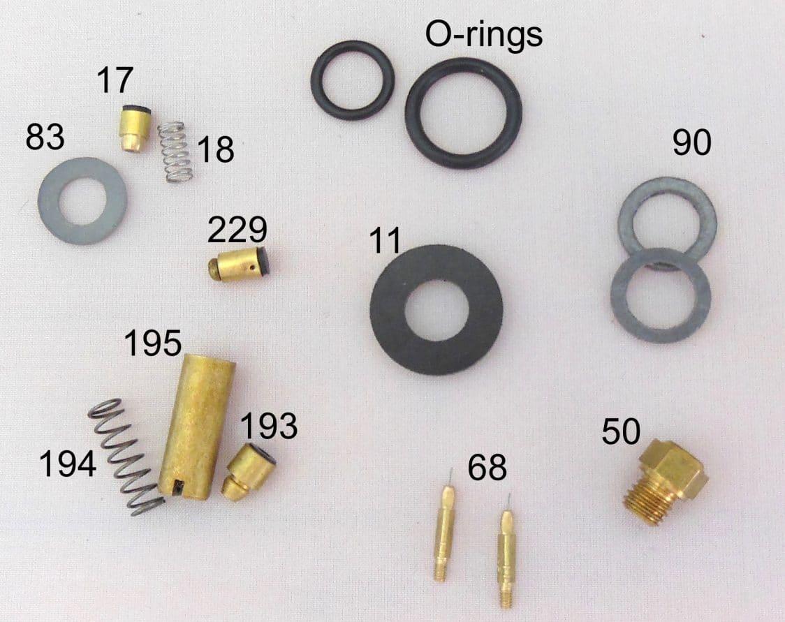 500CP / BriteLyt Petromax Parts Kit w/2-Orings-Part 1020-2-500CP