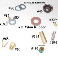 150CP / BriteLyt Petromax Parts Kit w/Leather washer-Part 1020-LEATHER-150CP