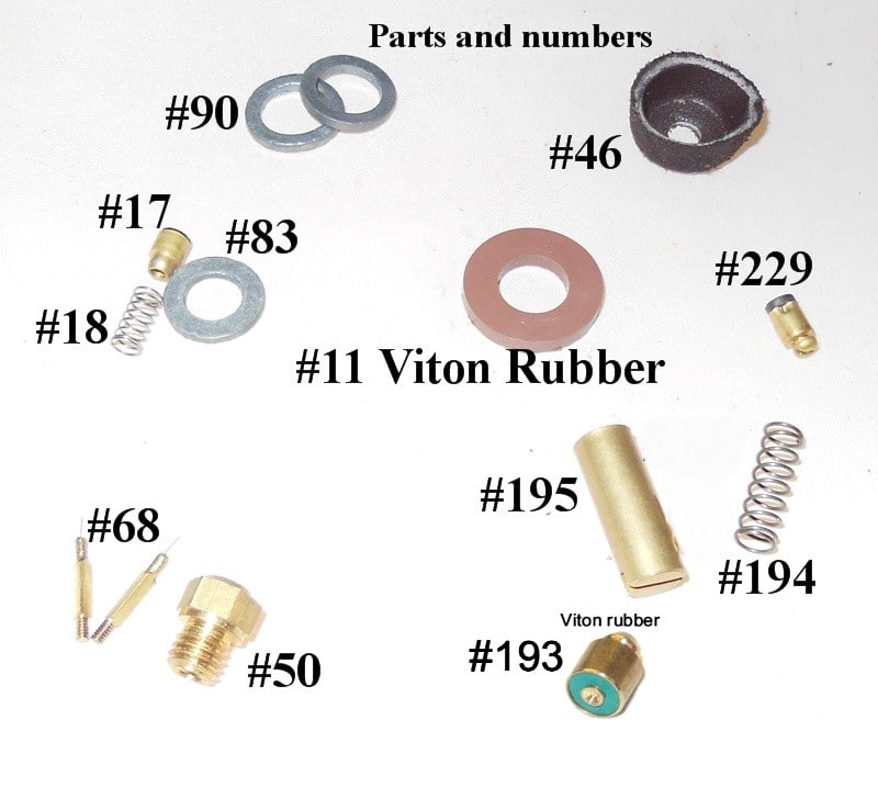 500CP / BriteLyt Petromax Parts Kit w/Leather washer-Part 1020-LEATHER-500CP