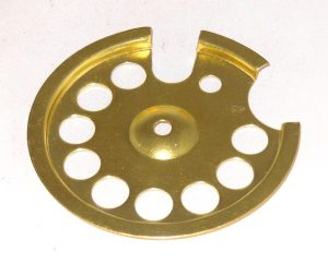 Center bottom plate-Part 122 Polished brass
