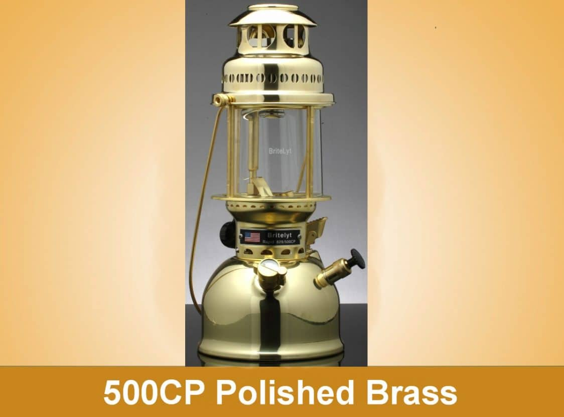 500CP BriteLyt Polished Brass Lantern