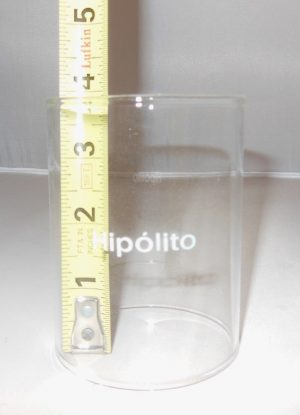 150CP Hipolito Clear Glass Globe (Chimney)