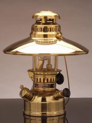 150CP BriteLyt Polished Brass Lanten and Reflector