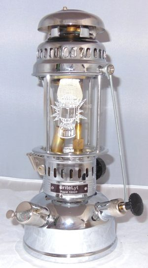 BriteLyt Nickel & Chrome Plated Brass Lantern and Reflector DEMO