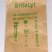 Tool parts kit that is included with every BriteLyt lamp
