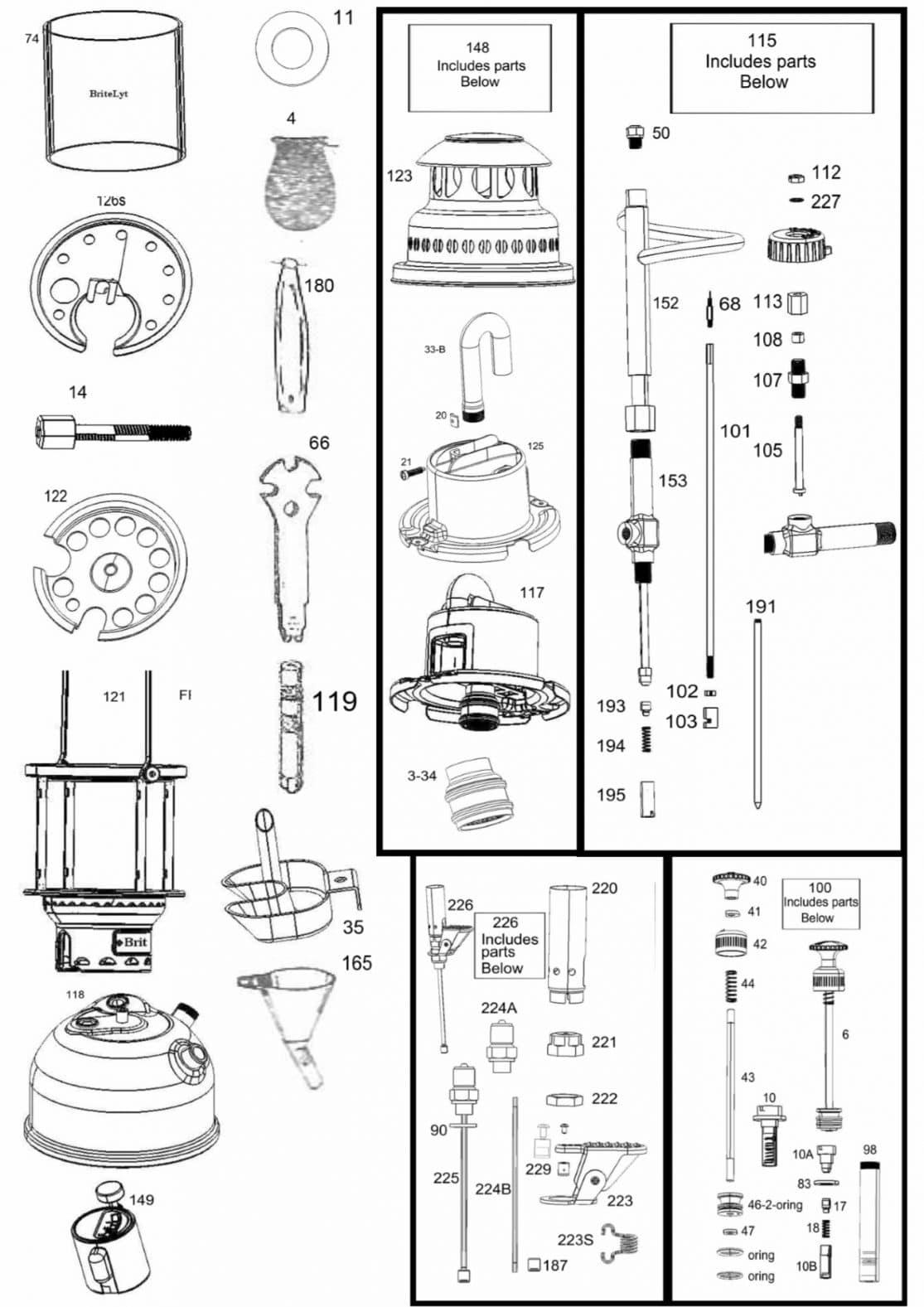 parts breakdown page